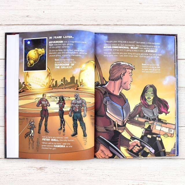 Personalised Marvel's Guardians of the Galaxy 2 Book from Pukkagifts.uk