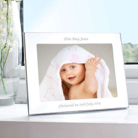 Personalised Silver 7x5 Landscape Photo Frame from Pukkagifts.uk