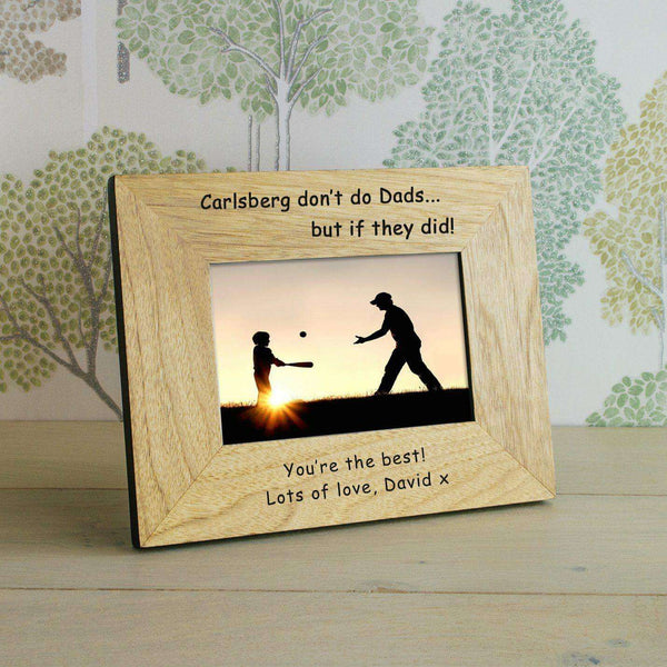Personalised If Carlsberg Did Dads Photo Frame from Pukkagifts.uk