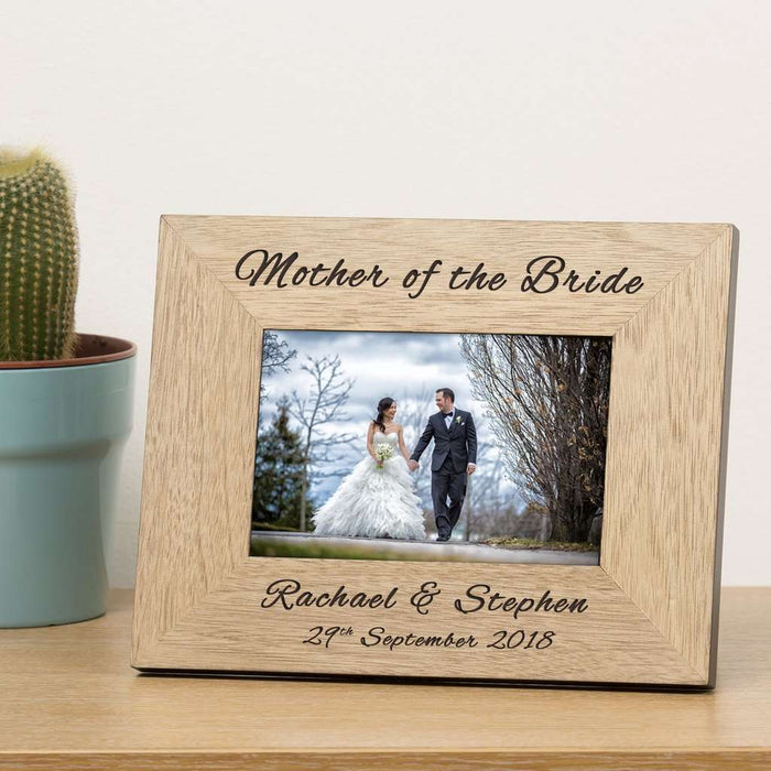 Personalised Mother Of The Bride Photo Frame 6x4 from Pukkagifts.uk