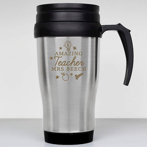 Personalised Amazing Teacher Travel Mug from Pukkagifts.uk