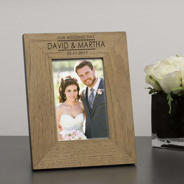Personalised OUR WEDDING DAY Photo Frame from Pukkagifts.uk