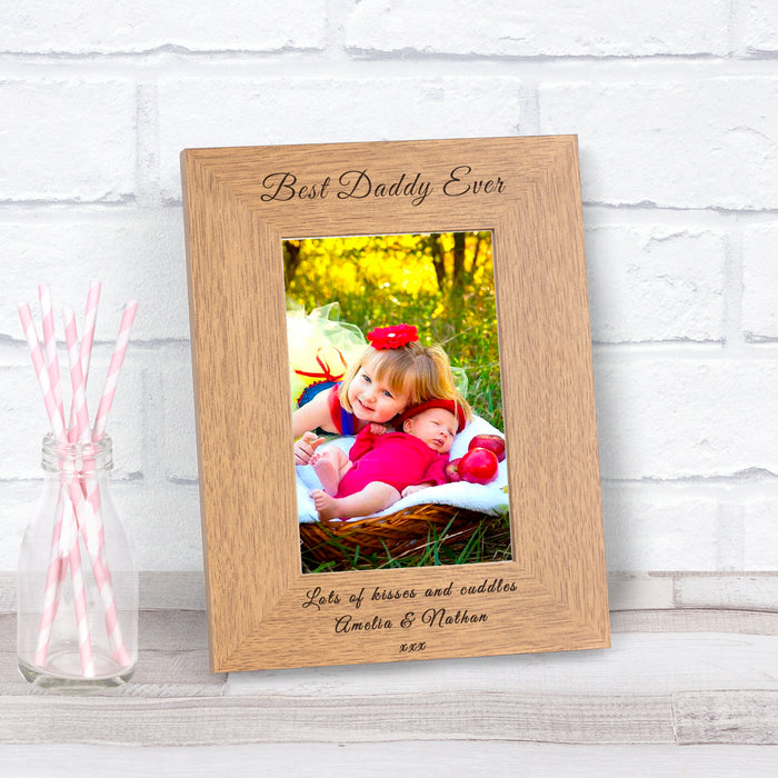 Personalised Best Daddy Ever Photo Frame 6x4 from Pukkagifts.uk