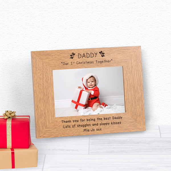 Personalised DADDY Our 1st Christmas Photo Frame