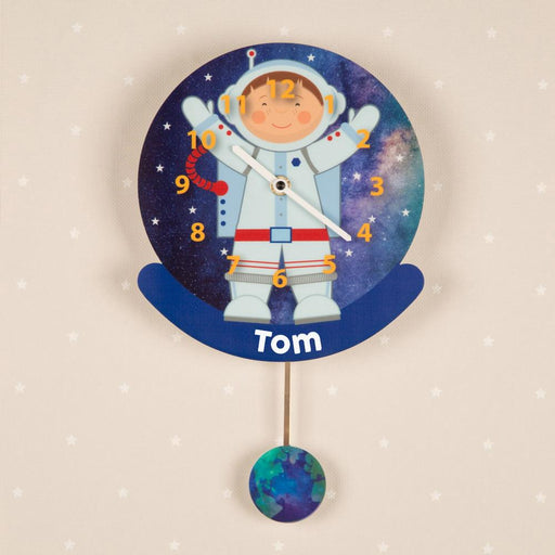 Personalised Pendulum Wall Clock - Astronaut