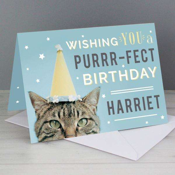 Personalised Rachael Hale Purr-fect Birthday Card from Pukkagifts.uk