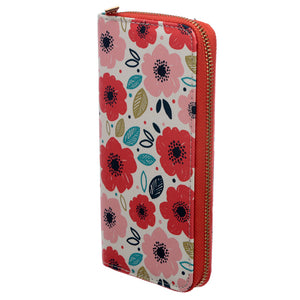 Poppy Design Zip Around Large Wallet Purse