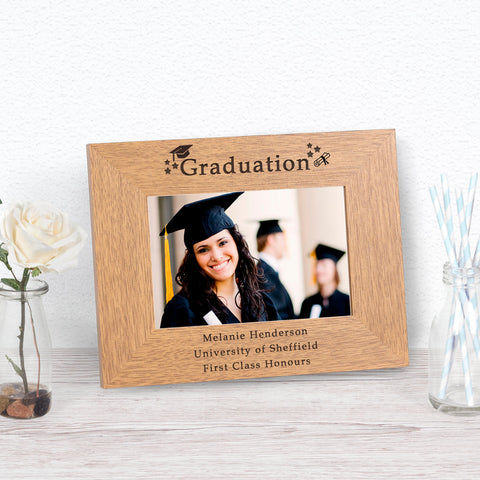 Personalised Graduation Photo Frame from Pukkagifts.uk
