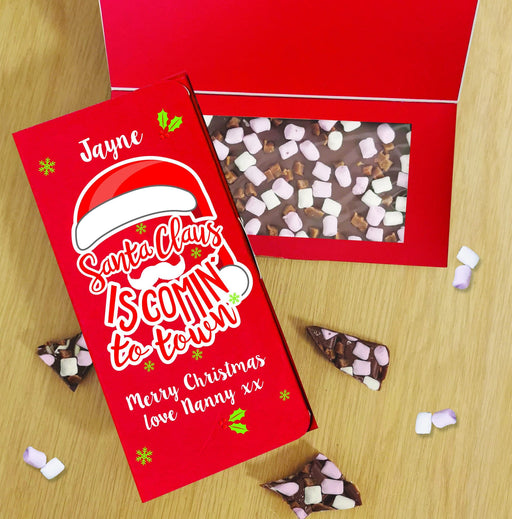Personalised Santa Claus Letterbox Milk Chocolate Card