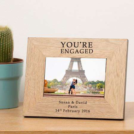 Personalised You're Engaged Photo Frame (6