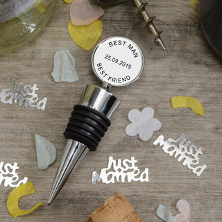 Personalised Bottle Stopper Any Message - www.pukkagifts.uk