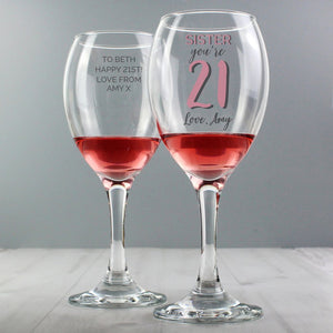 Personalised Birthday Age Wine Glass from Pukkagifts.uk