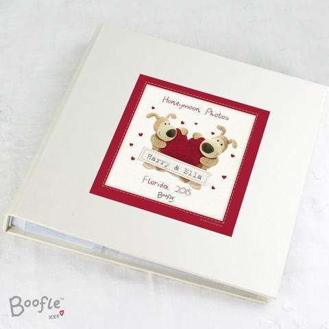 Personalised Boofle Shared Heart Photo Album from Pukkagifts.uk