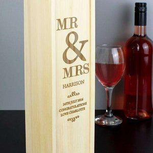 Personalised Couples Alcohol Bottle Presentation Box from Pukkagifts.uk