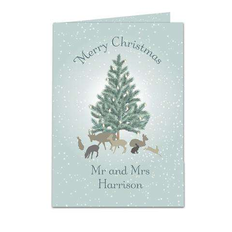 Personalised A Winter's Night Christmas Card from Pukkagifts.uk