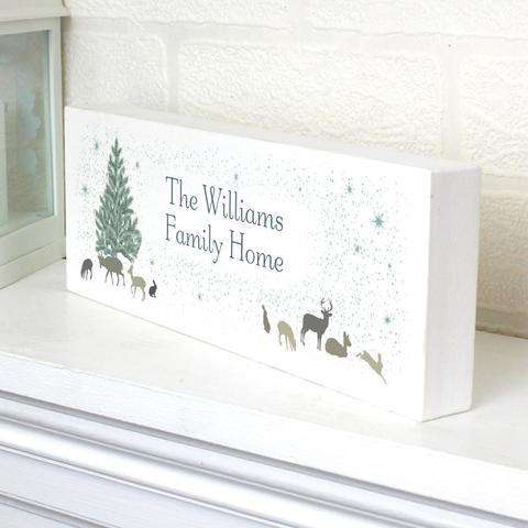 Personalised A Winter's Night Mantel Block from Pukkagifts.uk