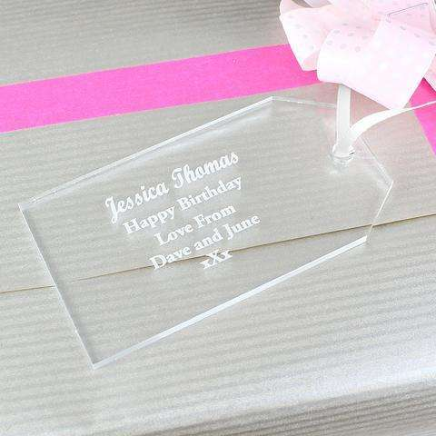 Personalised Acrylic Gift Tag Decoration from Pukkagifts.uk
