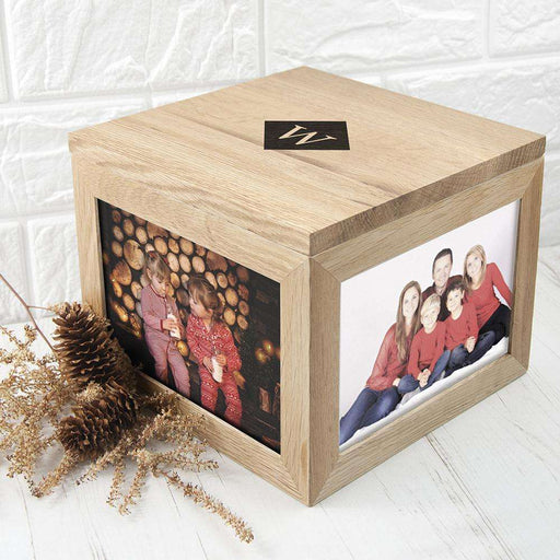 Personalised Photo Cube Keepsake Box with Initials from Pukkagifts.uk