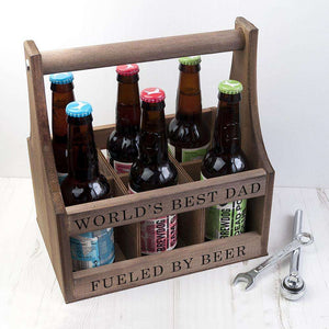 Personalised Wooden Beer Trug With Bottle Opener from Pukkagifts.uk