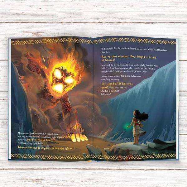 Personalised Disney Moana Story Book Hardback from Pukkagifts.uk