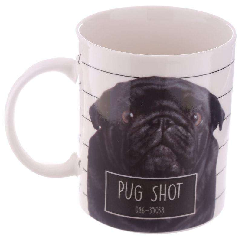 Pug Mug Pug Shot Design from Pukkagifts.uk