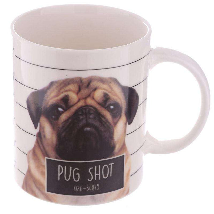 Pug Mug Cute Pug Shot Design from Pukkagifts.uk