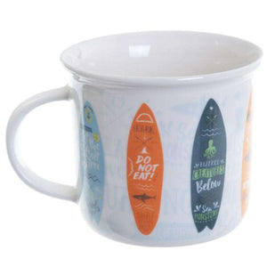 Surfboard Enamel Shape Mug from Pukkagifts.uk