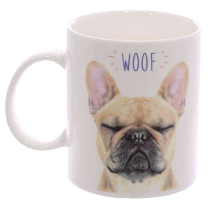 WOOF French Bulldog Mug from Pukkagifts.uk