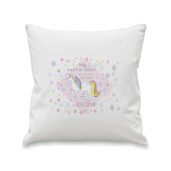 Always Be A Unicorn Cushion Cover - A perfect gift for UNICORN lovers! from Pukkagifts.uk