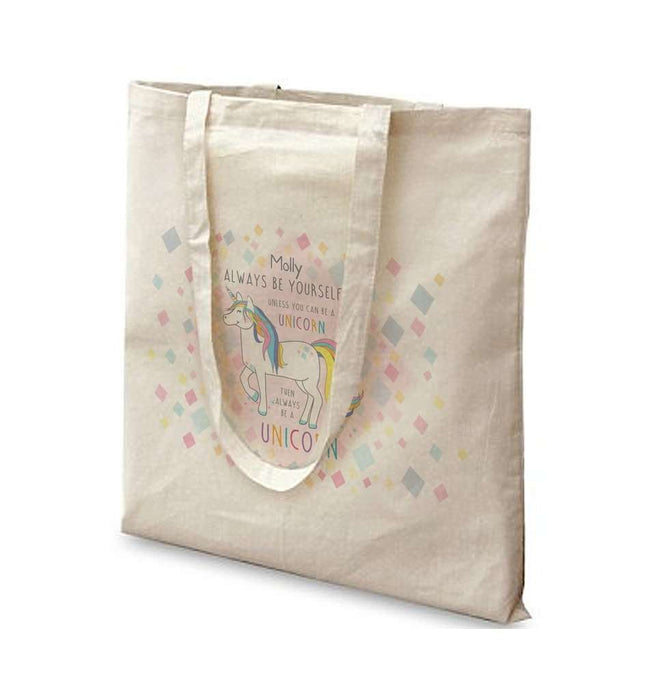 Always Be A Unicorn Tote Bag - A perfect gift for UNICORN lovers! from Pukkagifts.uk