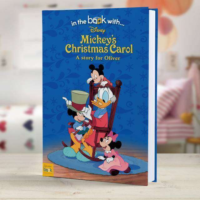Personalised Mickey's Christmas Carol - Hardback from Pukkagifts.uk