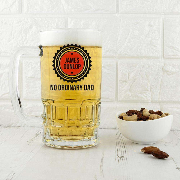 No Ordinary Dad Beer Glass Tankard from Pukkagifts.uk
