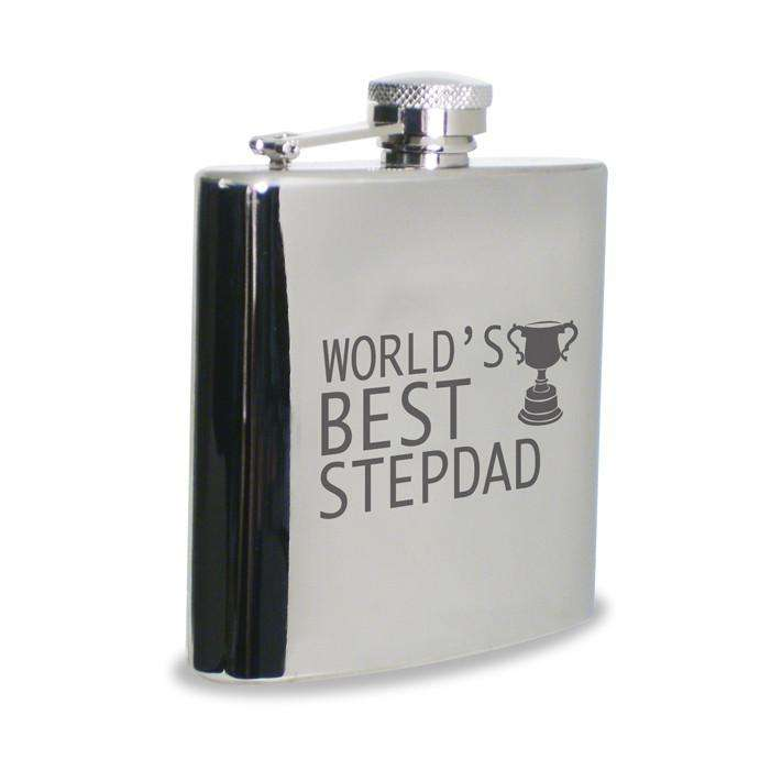 World's Best Step Dad Hip Flask from Pukkagifts.uk