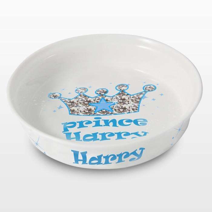 Personalised Bling Prince Pet Bowl from Pukkagifts.uk