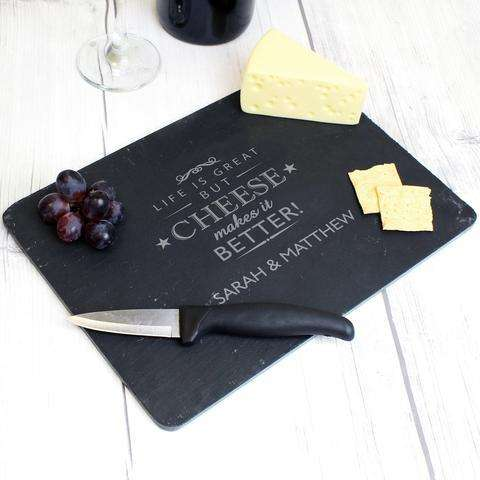 Personalised Slate Cheese Board from Pukkagifts.uk