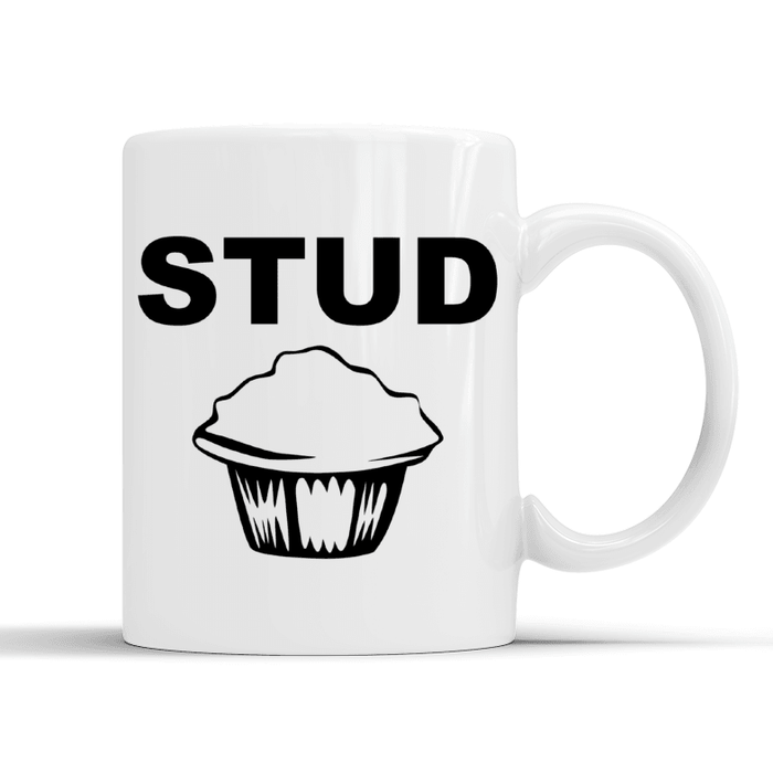 Stud muffin mug from Pukkagifts.uk