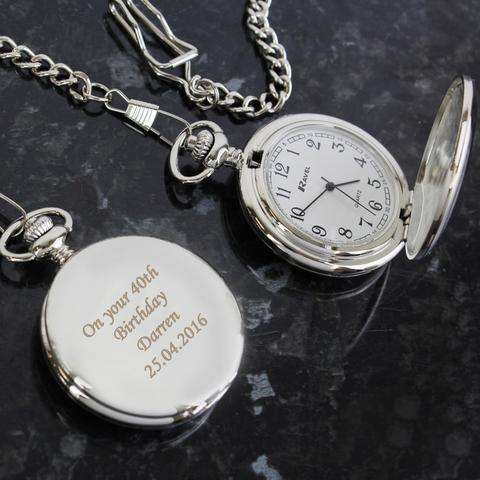 Personalised Mens Pocket Watch from Pukkagifts.uk