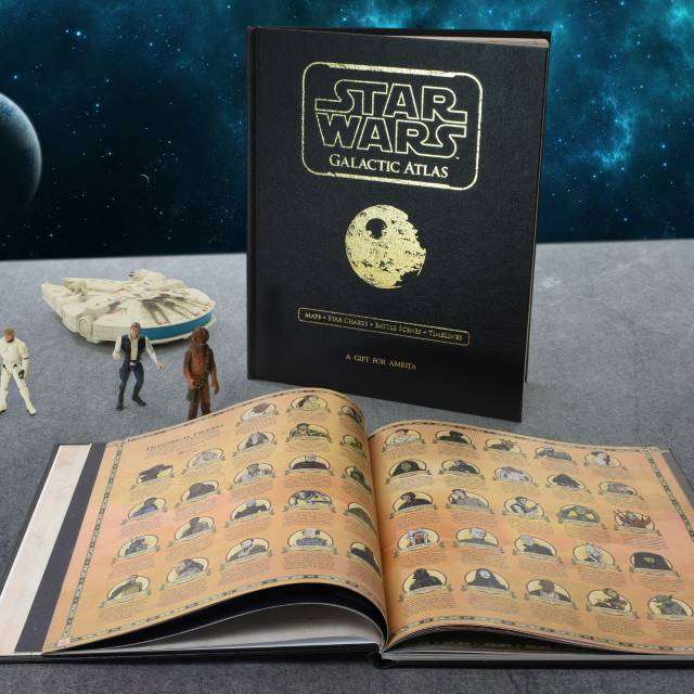 Personalised Star Wars Galactic Atlas from Pukkagifts.uk