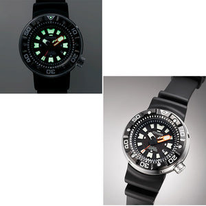 Citizen Promaster Eco-Drive Professional Diver's 300M DLC Japan Made BN0176-08E Men's Watch