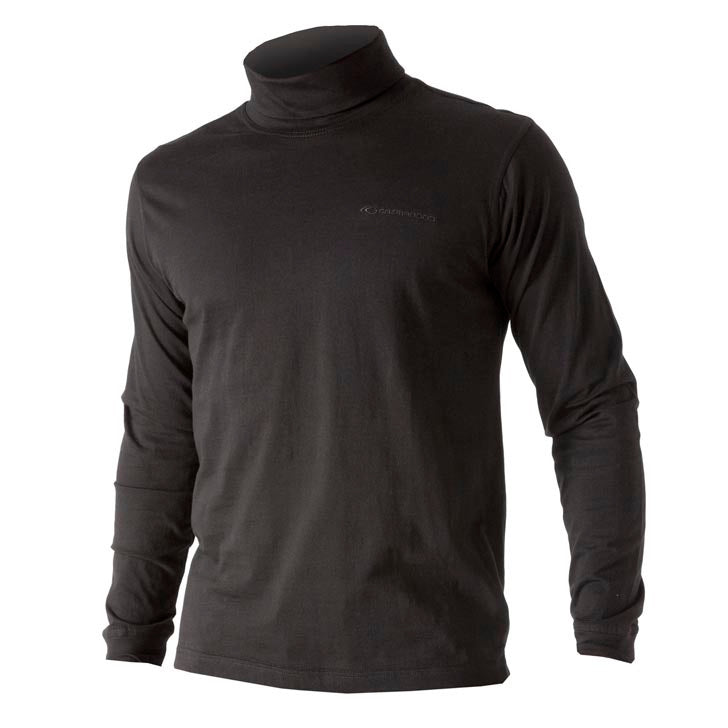 802821 Catmandoo Men's Free Black Cotton Rollneck Base Layer Top Product Image