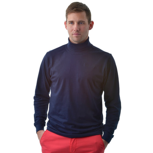 802821 Catmandoo Men's Free Navy Cotton Rollneck Base Layer Top Product Image