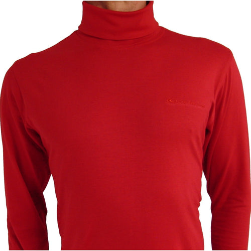 Catmandoo Red Cotton Roll Neck Top