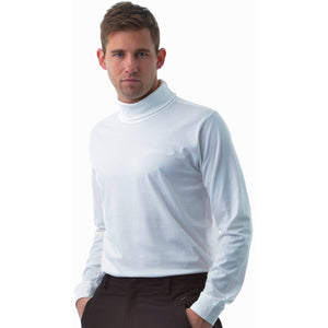 802821 Catmandoo Men's Free White Cotton Rollneck Base Layer Top Product Image