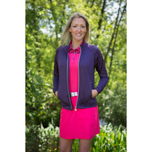 803111 Catmandoo Michelle Womens Plum Zip-Thry Mid Layer Jacket Full Model Image
