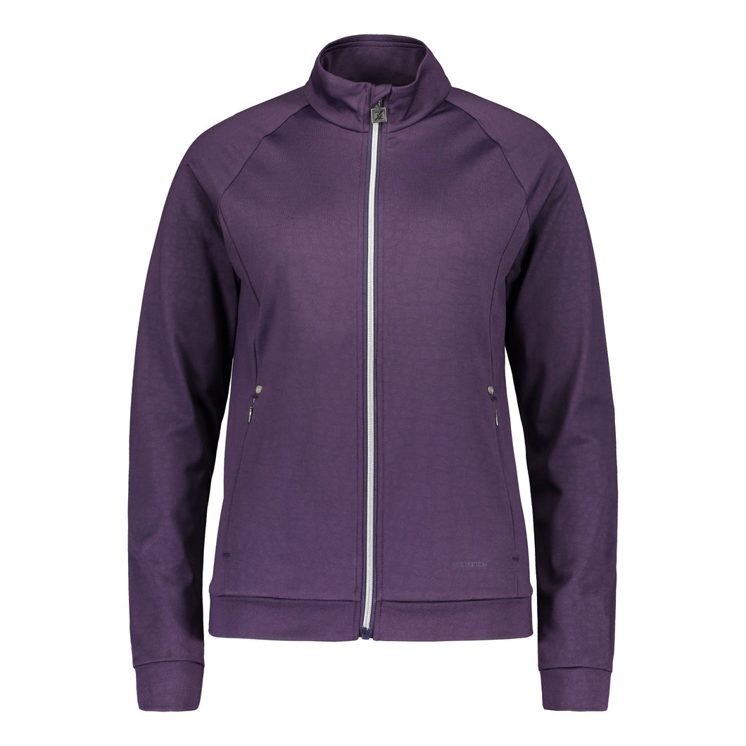 803111 Catmandoo Michelle Womens Plum Zip-Thry Mid Layer Jacket Product Image Front