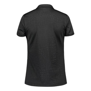 803114 Catmandoo Candie Black Embossed Polo Shirt Product Image Back