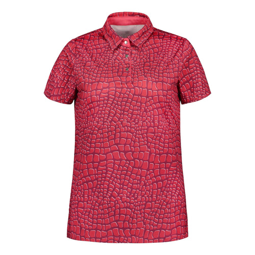 803117 Catmandoo Angel Raspberry Full Print Polo Shirt Product Image Front