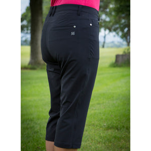 803122 Catmandoo Magda Ladies Black Stretch Capri Pants Model Image Side