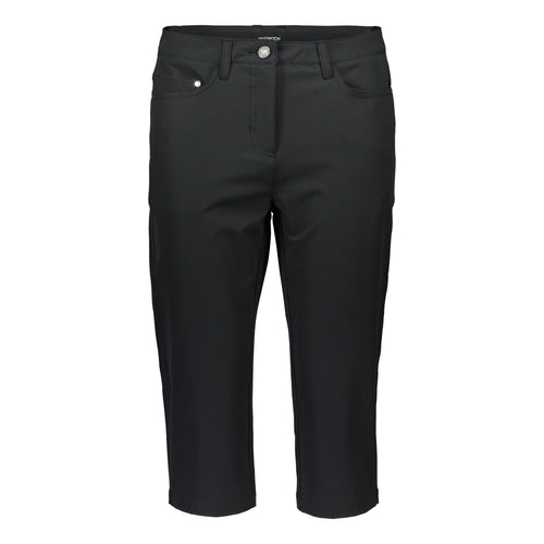 803122 Catmandoo Magda Ladies Black Stretch Capri Pants Product Image Front