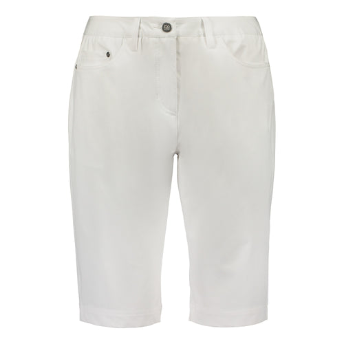 803123 Catmandoo Seon Ladies White Stretch Shorts Product Image Front
